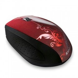 Wireless Optical Mouse Red