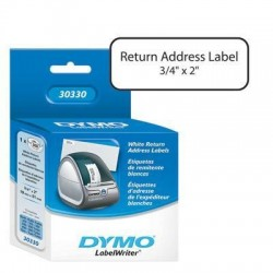White Return Address Label 3/4