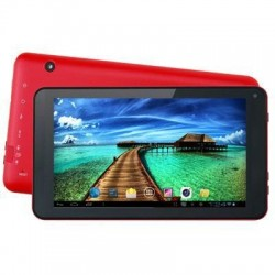 "7"" Quad Core Tablet Red"
