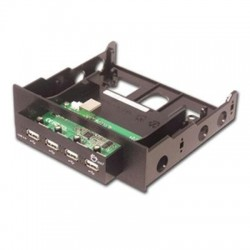 Usb 2.0 4-port Bay Hub Black