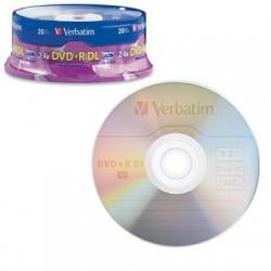 Dvd+r Dl 8.5g 2.4x Branded 20p